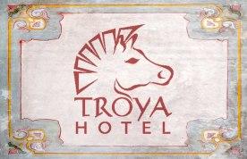 Troya Hotel Stationary and Menu Design
